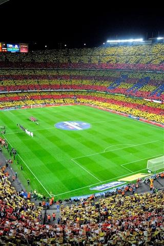 iPhone Wallpaper Camp Nou, Spain, FC Barcelona, Sports, Football