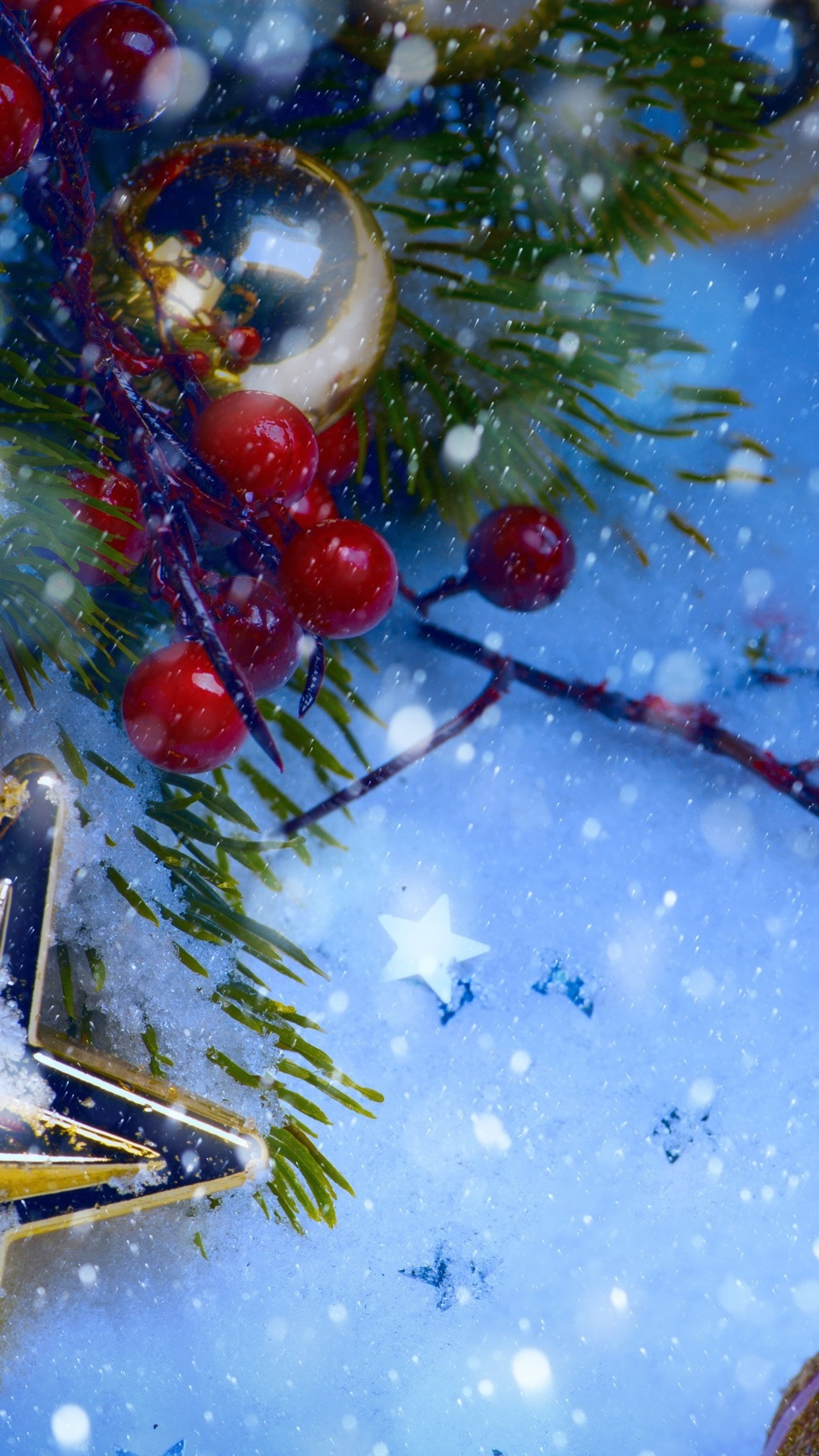 Christmas decorations snow