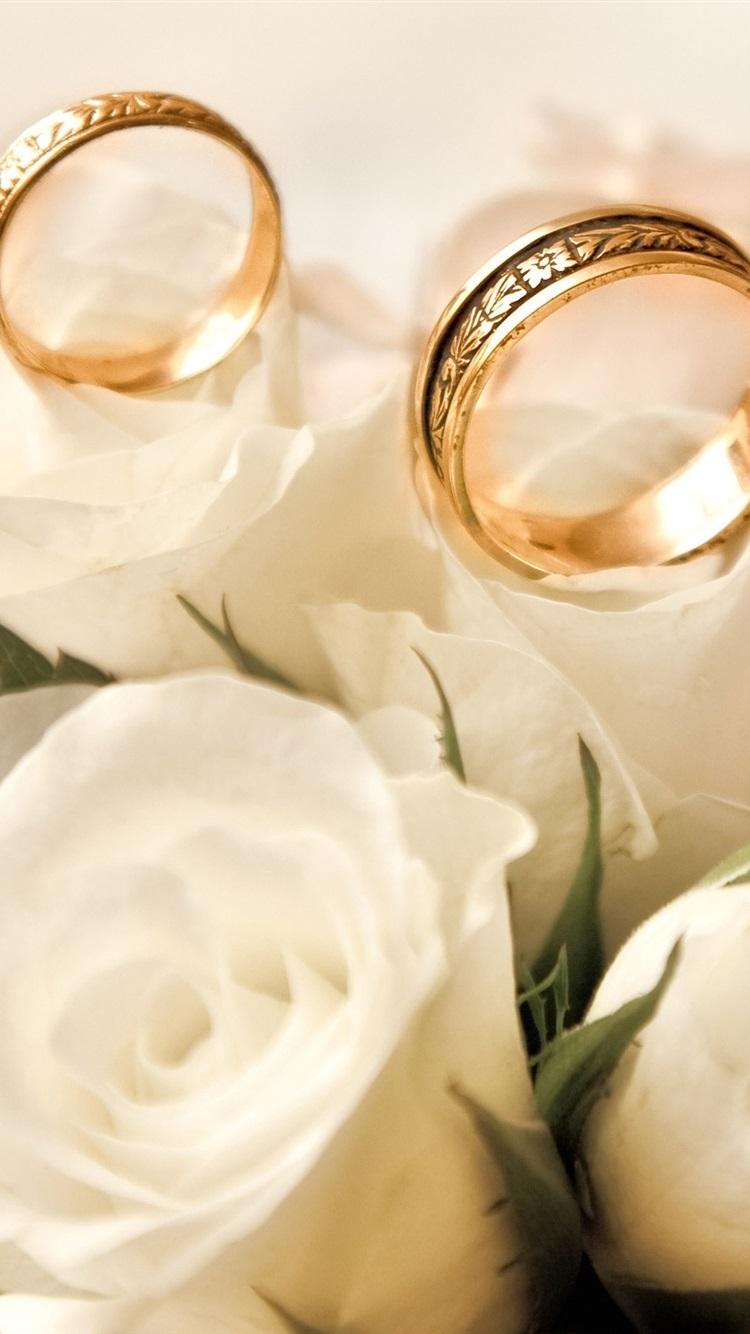 Красивые свадебные картинки с кольцами и цветами вертикально