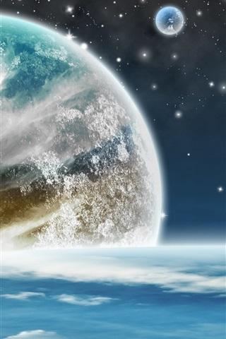 iPhone Обои Планеты, магия пространство, звезды