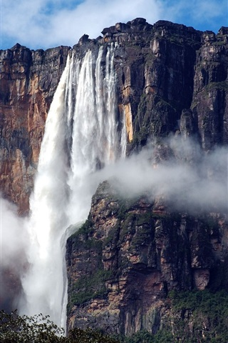 iPhone Wallpaper South America, Venezuela, Canaima National Park, waterfall, Angel Falls