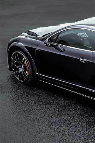 iPhone Wallpaper Bentley Continental GT ONYX black car back view