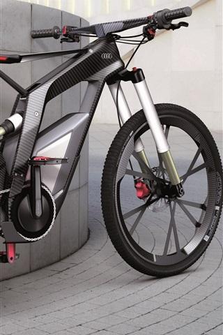 iPhone Wallpaper Black Audi bicycle
