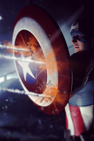iPhone Wallpaper Captain America: The Winter Soldier 2014 HD