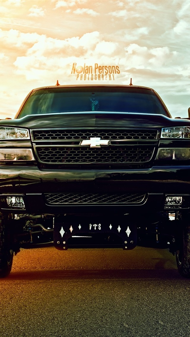 Chevrolet black suv car 640x1136 iPhone