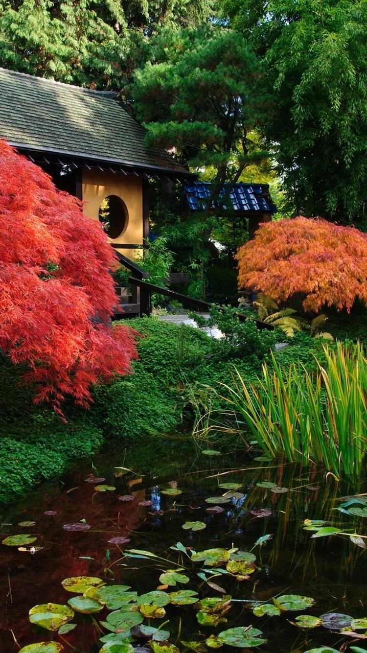Fondos de pantalla paisaje japon s jard n estanque for Estanque japones