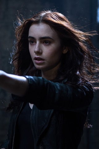iPhone Обои Лили Коллинз, The Mortal Instruments: Город костей