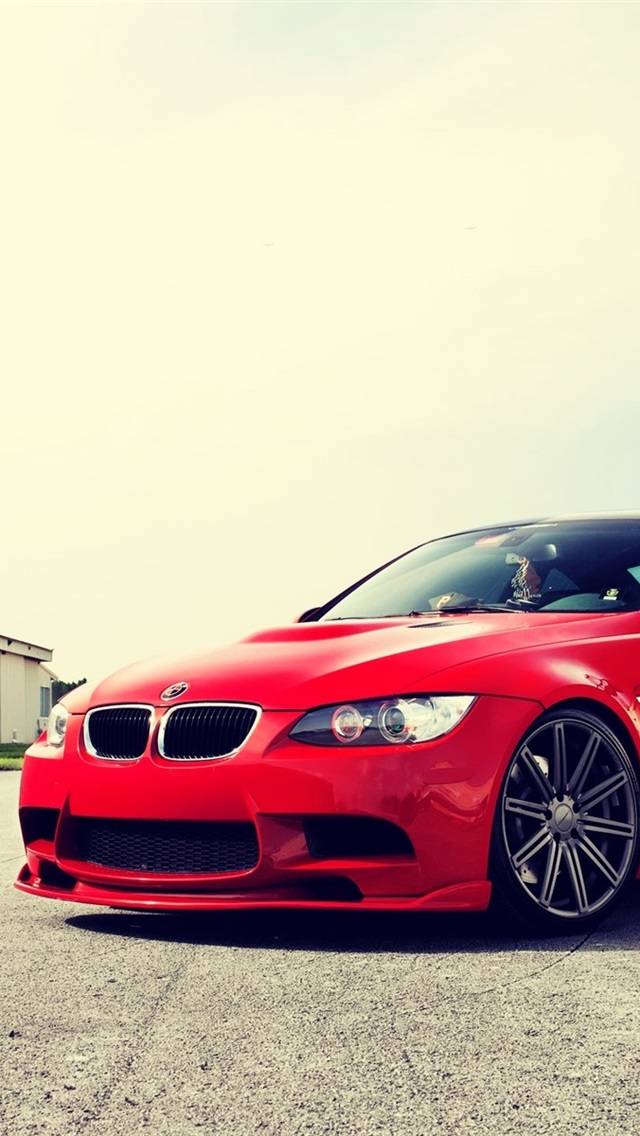 Bmw M3 E92 Red Car At Sunny Day 640x1136 Iphone 5 5s 5c Se Wallpaper Background Picture Image