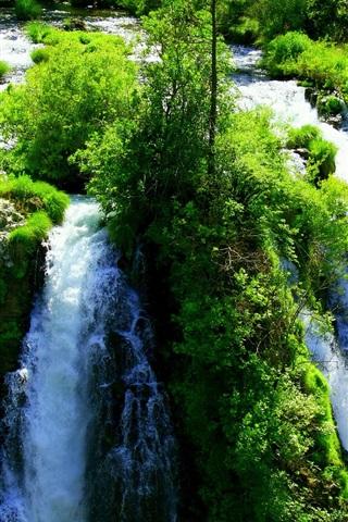 iPhone Wallpaper Beautiful waterfalls, greens, nature