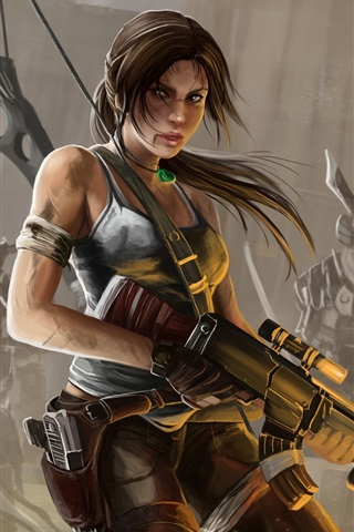 Lara Croft Tomb Raider Art Painting 1080x1920 Iphone 8 7 6