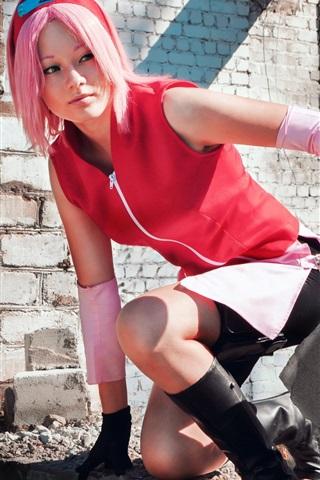 iPhone Wallpaper Cosplay girl, Naruto