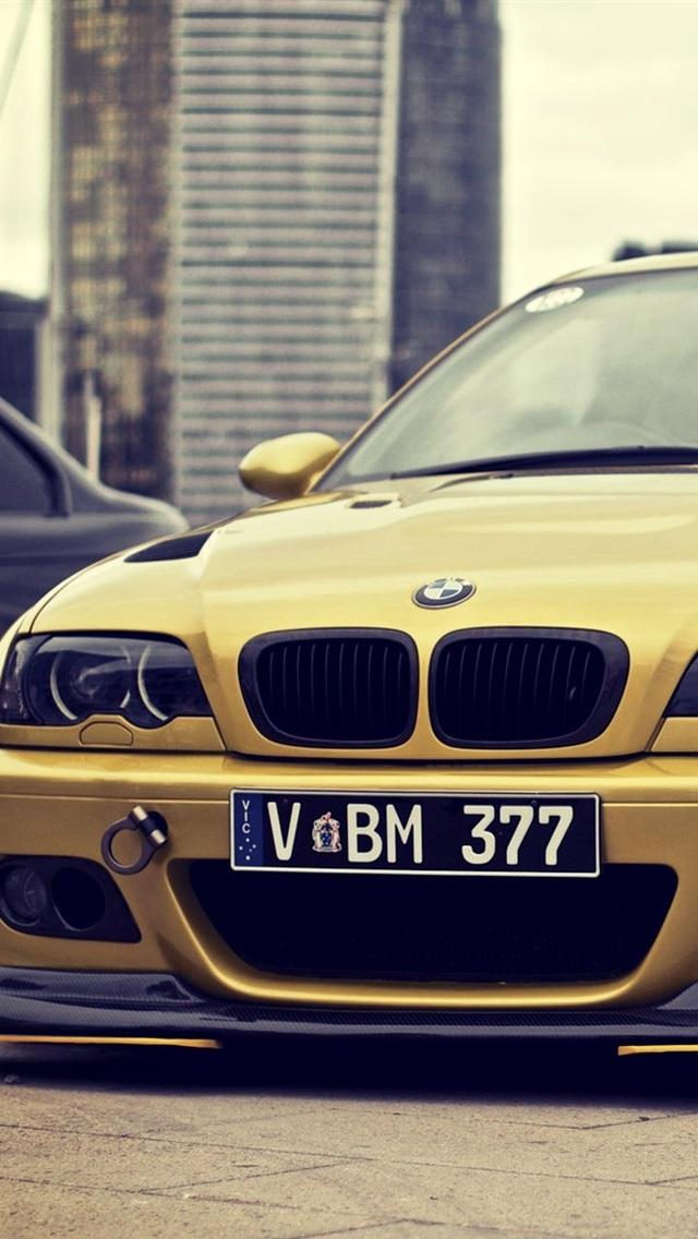 Gold Bmw M3 E46 Car 640x1136 Iphone 55s5cse Wallpaper