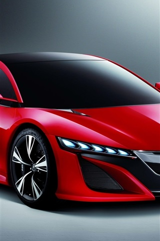 iPhone Wallpaper Acura Nsx concept red car