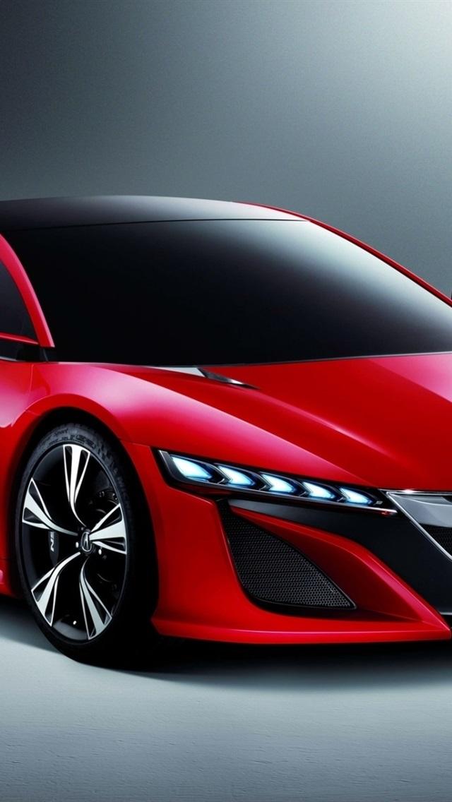 Acura Nsx Concept Red Car 640x1136 Iphone 5 5s 5c Se