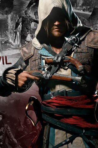 iPhone Wallpaper Assassin's Creed 4: Black Flag, game HD