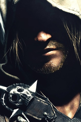 Assassin S Creed Iv Black Flag Face Shadow 640x1136 Iphone 5 5s