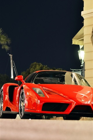 Ferrari Enzo Red Supercar City Of Monaco Night 640x1136 Iphone 5