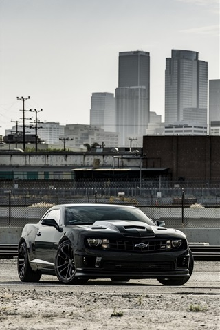 Ford Mustang Black Car Chevrolet Camaro White Car 640x1136 Iphone 5 5s 5c Se Wallpaper Background Picture Image