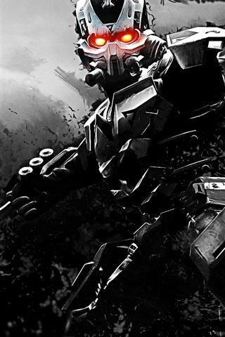 iPhone Wallpaper Killzone 3, cyborg