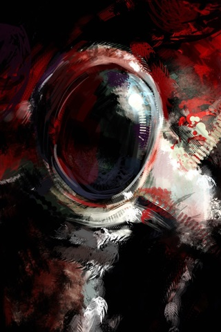 iPhone Wallpaper Astronaut, abstract design