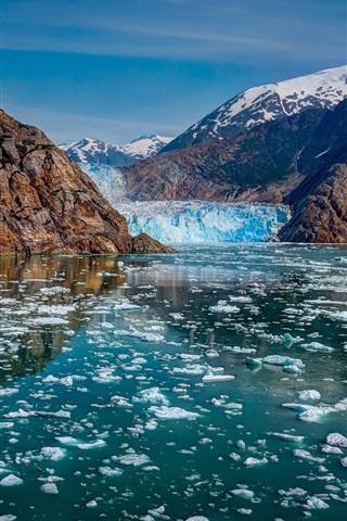 Glacier Bay National Park Alaska Mountains Glaciers Ice