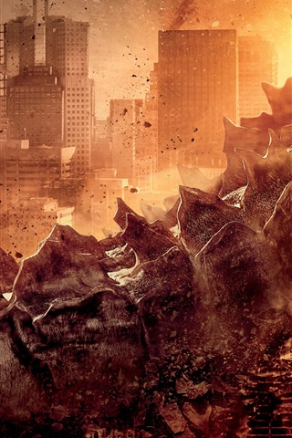 iPhone Wallpaper Godzilla movie 2014