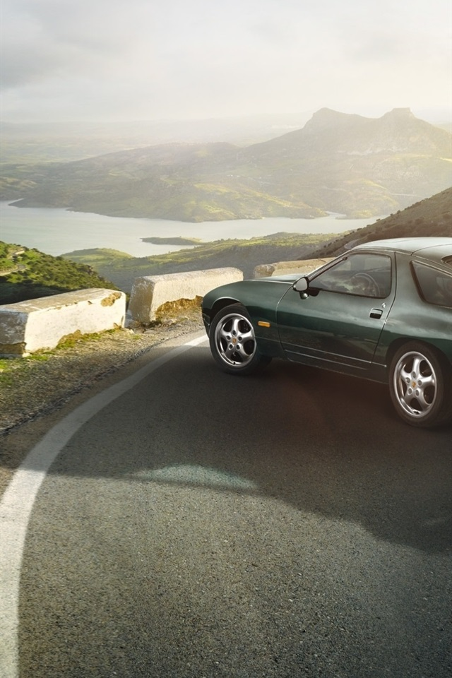 Porsche 928 Gts 1991 Green Car 640x1136 Iphone 5 5s 5c Se Wallpaper Background Picture Image