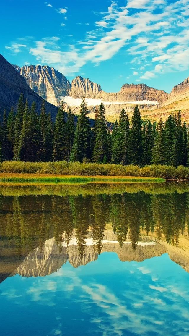 Glacier National Park, lake, forest