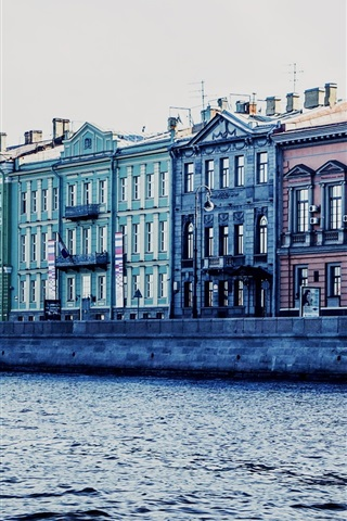 iPhone Wallpaper St. Petersburg, Russia, canal, river, house