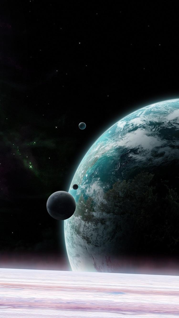 宇宙 行星 卫星 星750x1334 Iphone 8 7 6 6s 壁纸 图片 背景 照片