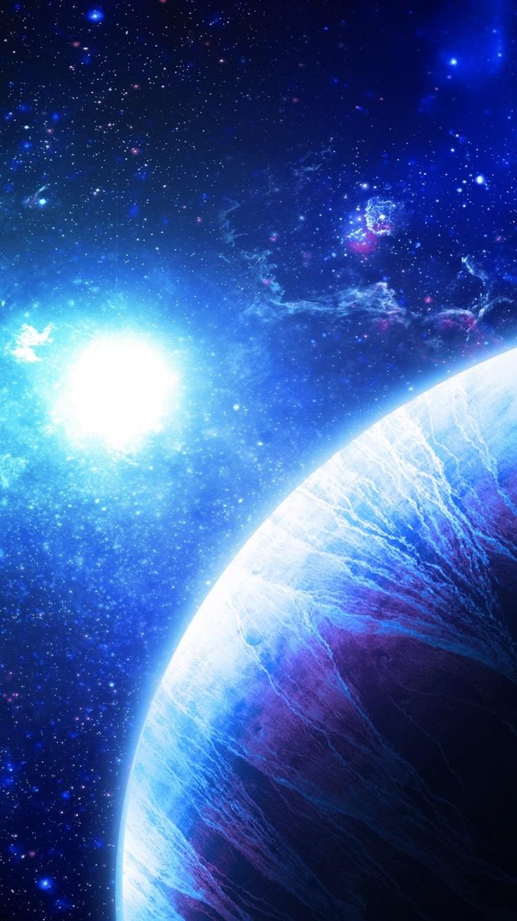 Art fantasy planets stars