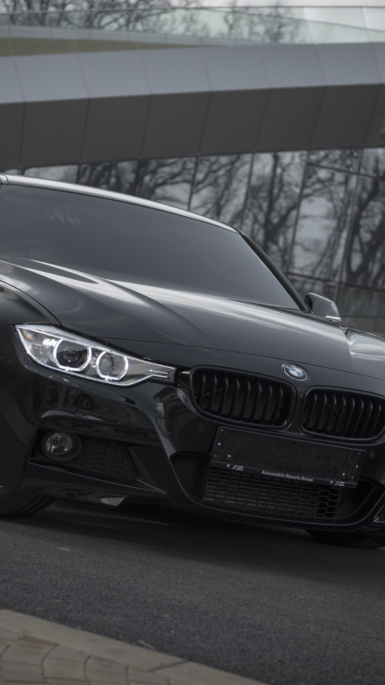 Wallpaper Bmw F30 Black Car Front View 2560x1600 Hd Picture