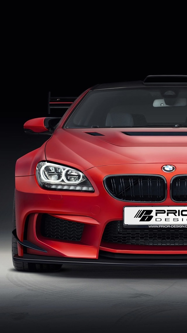 Bmw M6 F13 Red Car Front View 640x1136 Iphone 5 5s 5c Se