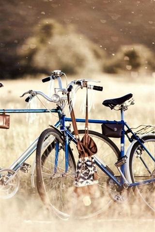 iPhone Wallpaper Bike in the nature