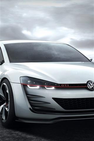 iPhone Wallpaper Volkswagen Golf GTI white car