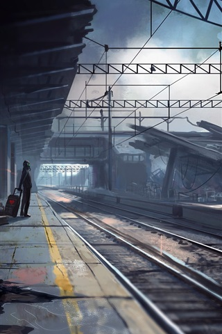 Armageddon Abandoned Train Station Creative Pictures