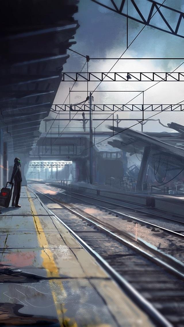 Wallpaper Armageddon Abandoned Train Station Creative