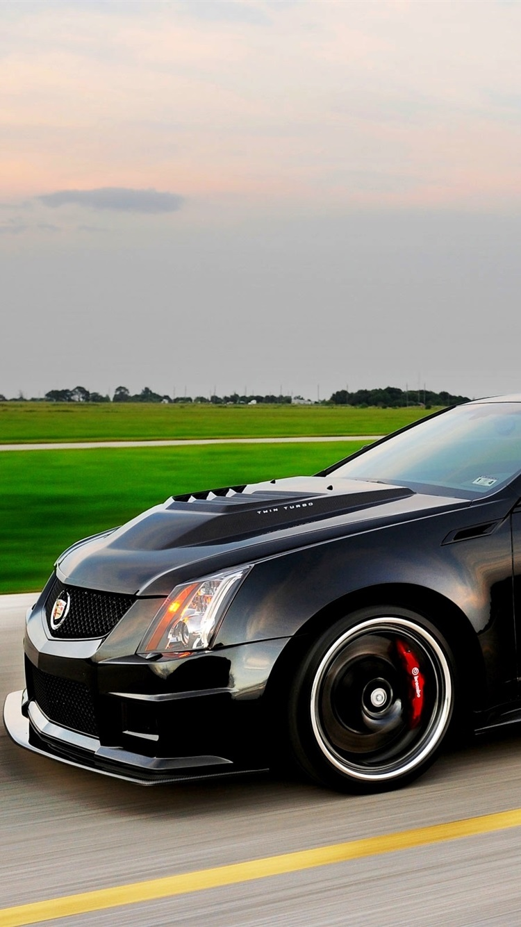 Cadillac CTS V black car side view 21x21 iPhone 21/21/21/21S ...