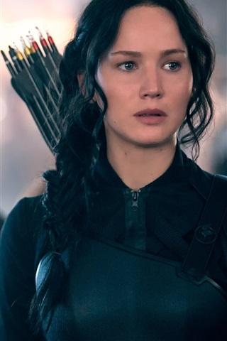 iPhone Hintergrundbilder Jennifer Lawrence 2014 Film The Hunger Games: Mockingjay
