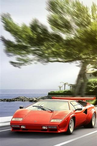Lamborghini Red Supercar Front View Sun Glare 640x1136 Iphone 5 5s