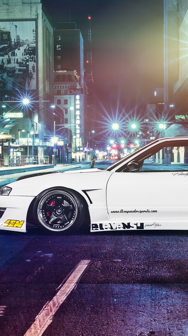 Nissan Silvia S13 Car Street Night 750x1334 Iphone 8 7 6 6s Wallpaper Background Picture Image