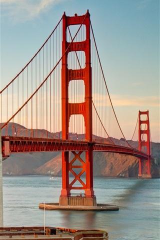 iPhone Wallpaper San Francisco Bridge, Golden Gate, sky, clouds
