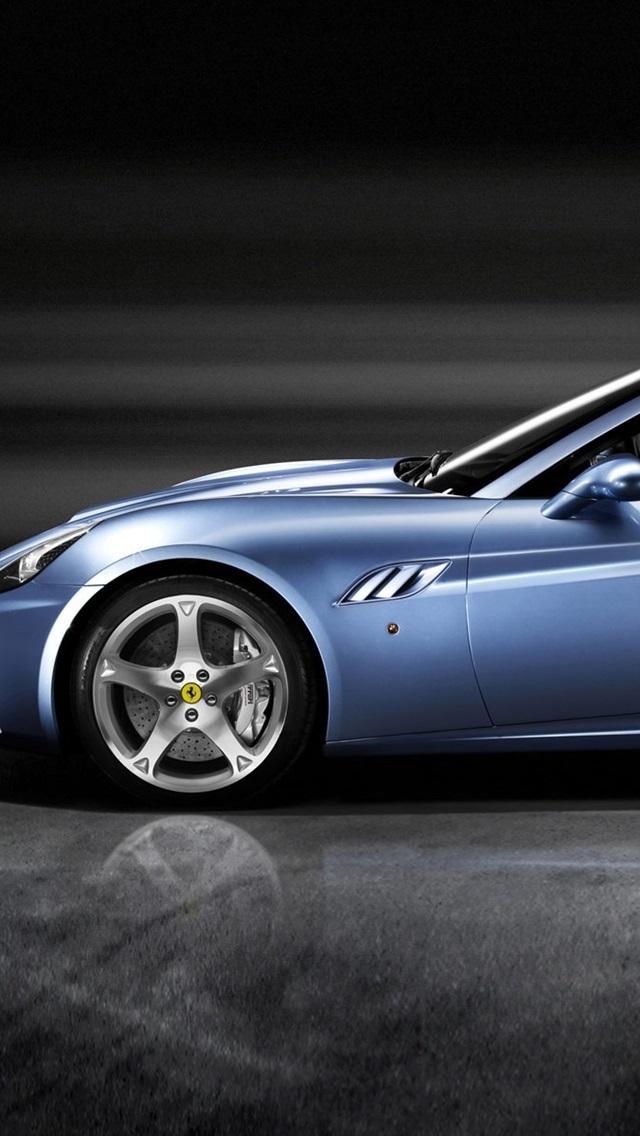 Wallpaper Ferrari California Blue Sports Car Side View 1920x1200 Hd