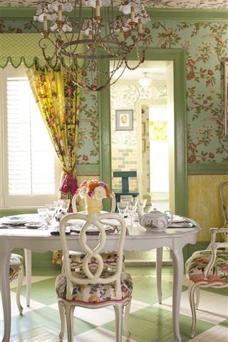 iPhone Wallpaper Interior design, home, villa, dining