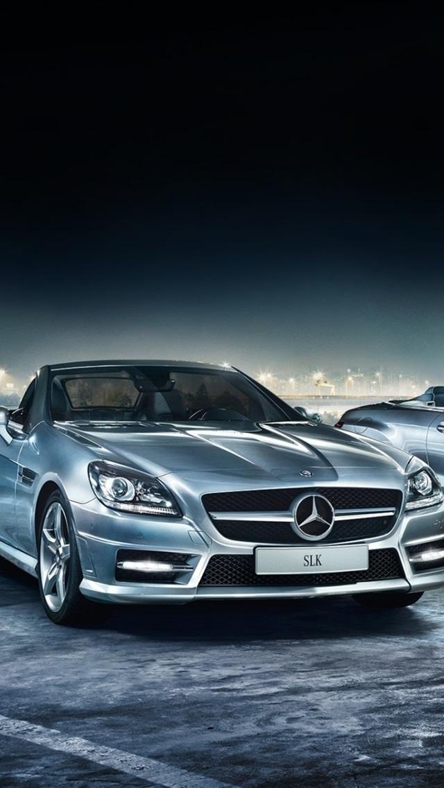 Mercedes Benz Cars At Night 640x1136 Iphone 55s5cse Wallpaper