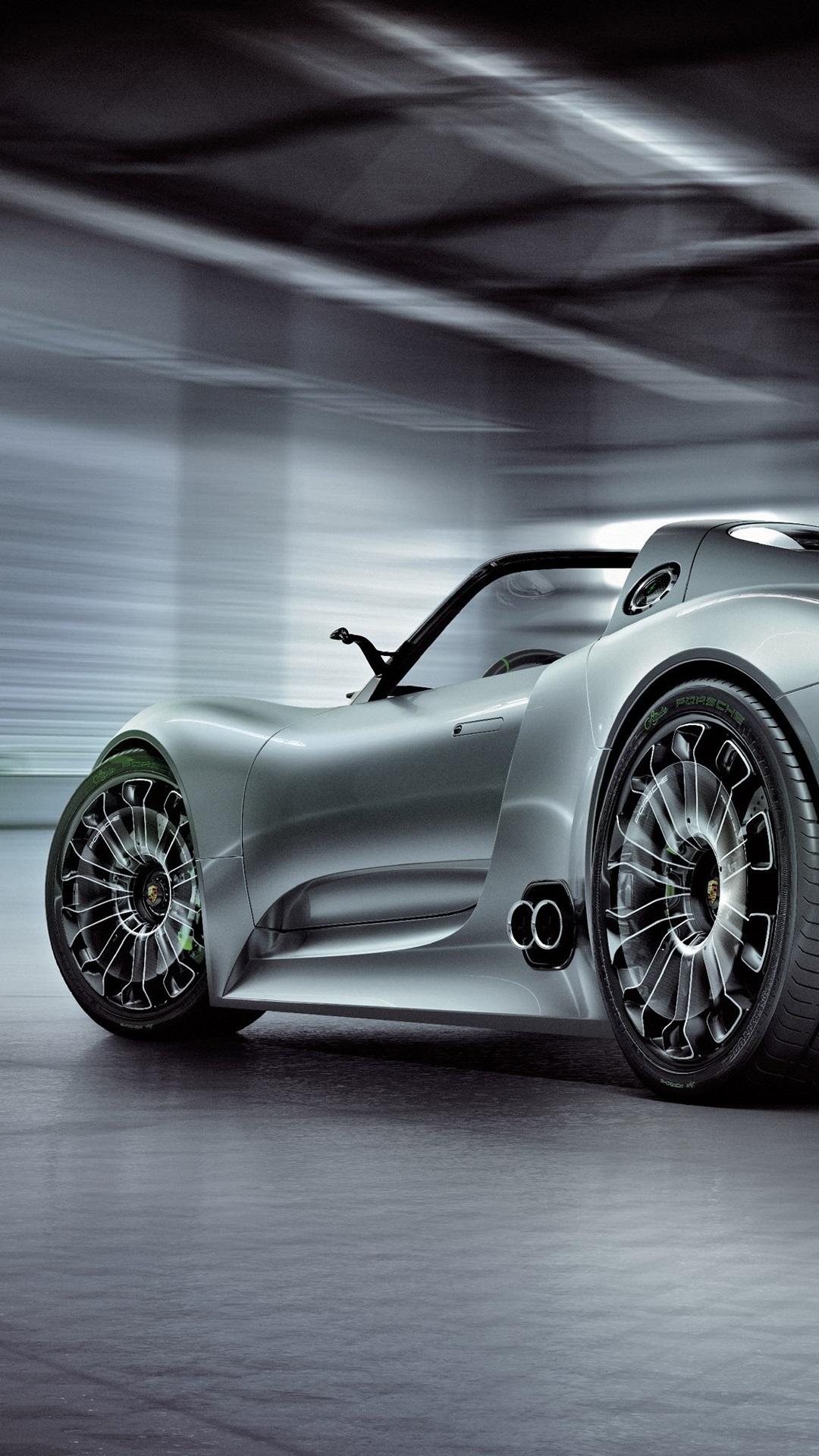 Porsche 918 Spyder Concept Supercar Back View 1080x1920