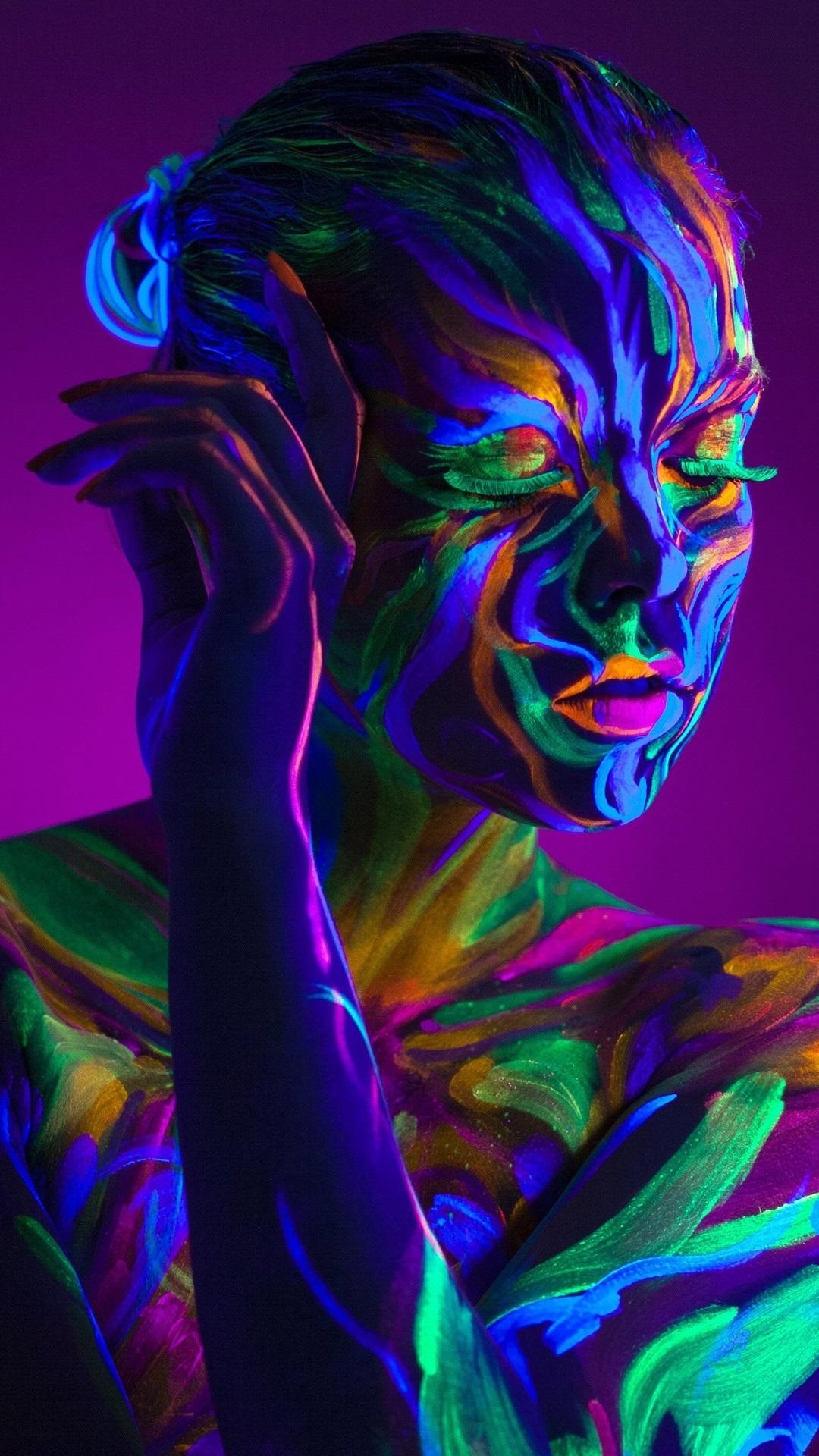 Fonds d\u0027écran Style, peinture coloré, fille, cils 2560x1920