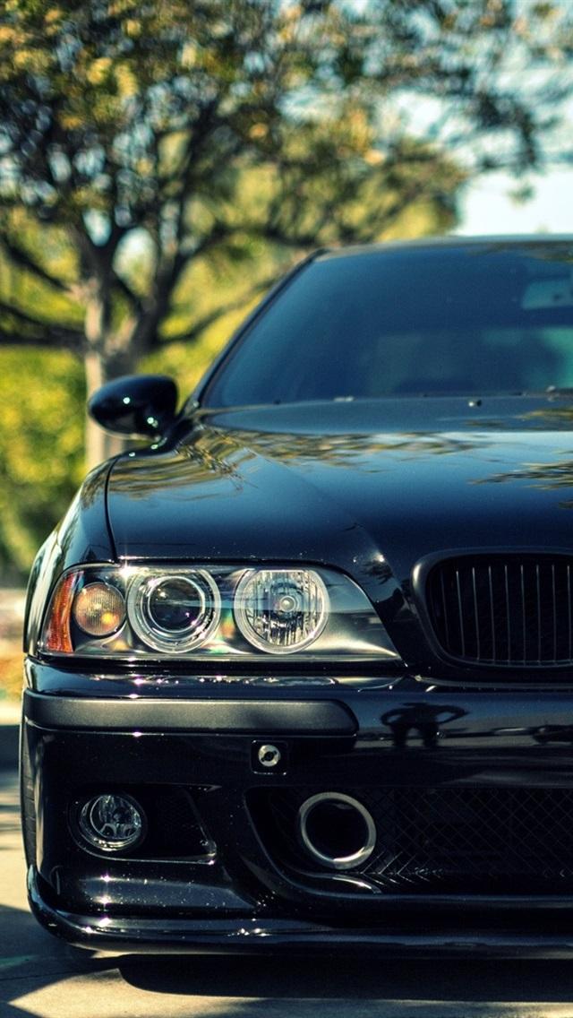 Bmw M5 E39 Black Car Front View 640x1136 Iphone 55s5cse