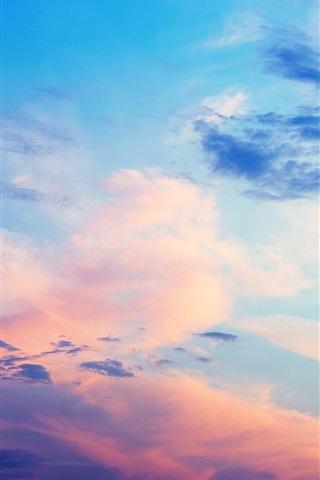 iPhone Wallpaper Beautiful sky, clouds, sunset