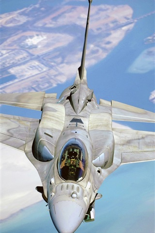 iPhone Wallpaper Fighter F-16, Fighting Falcon